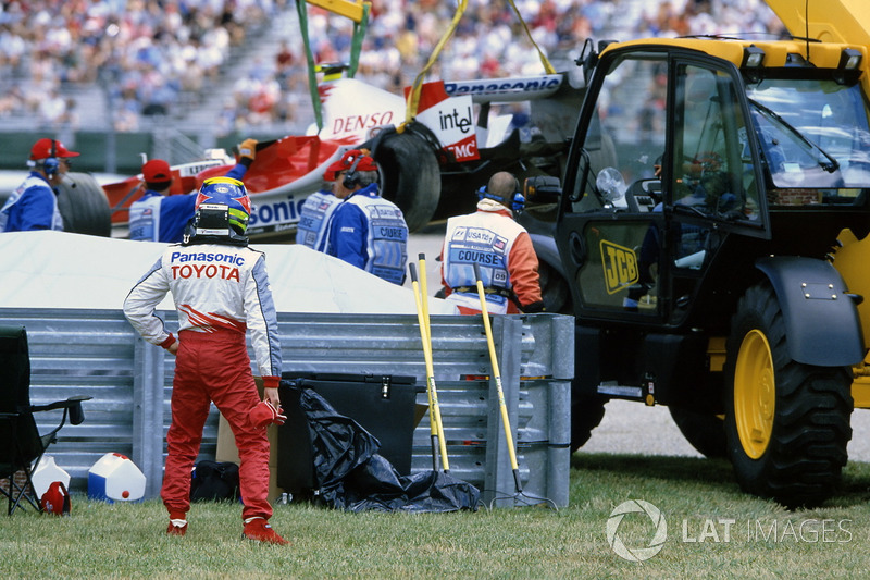 Ricardo Zonta, Toyota TF105 después del choque