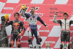 Podium: race winner Romano Fenati, Snipers Team, second place Niccolo Antonelli, Red Bull KTM Ajo, third place Marco Bezzecchi, CIP-Unicom Starker