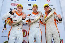 Podium: #2 GIGASPEED Team GetSpeed Performance Porsche 911 GT3 R: Steve Jans, Marek Böckmann, Fabian