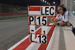 Pit board for Charles Leclerc, Sauber C37