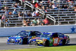 Michael McDowell, Leavine Family Racing Chevrolet and Kyle Busch, Joe Gibbs Racing Toyota