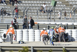 Crash of Andrea Iannone, Team Suzuki MotoGP