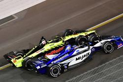 Sébastien Bourdais, Dale Coyne Racing with Vasser-Sullivan Honda, Takuma Sato, Rahal Letterman Lanig