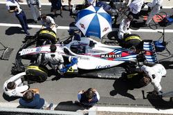 Lance Stroll, Williams FW41, arranca desde el pit lane