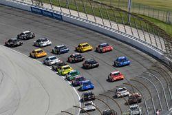 Kurt Busch, Stewart-Haas Racing, Ford Fusion Haas Automation and Kevin Harvick, Stewart-Haas Racing, Ford Fusion Jimmy John's Kickin' Ranch