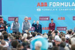 Alejandro Agag, CEO, Formula E, Jean Todt, FIA President, on the podium