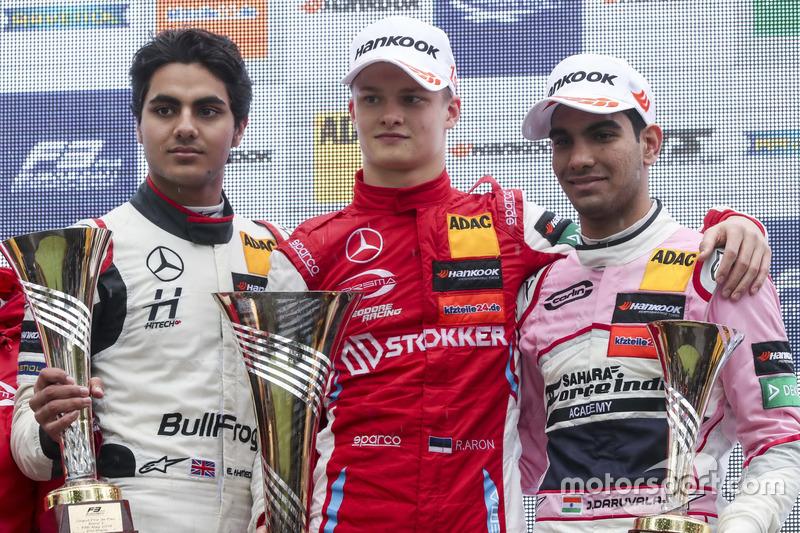 Podyum:Yarışın kazananı Ralf Aron, PREMA Theodore Racing Dallara F317 - Mercedes-Benz, ikinci Enaam Ahmed, Hitech Bullfrog GP Dallara F317 - Mercedes-Benz, üçüncü Jehan Daruvala, Carlin Dallara F317 - Volkswagen