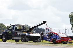 Bergung des Unfallautos von Mario Gosselin, King Autosport Chevrolet
