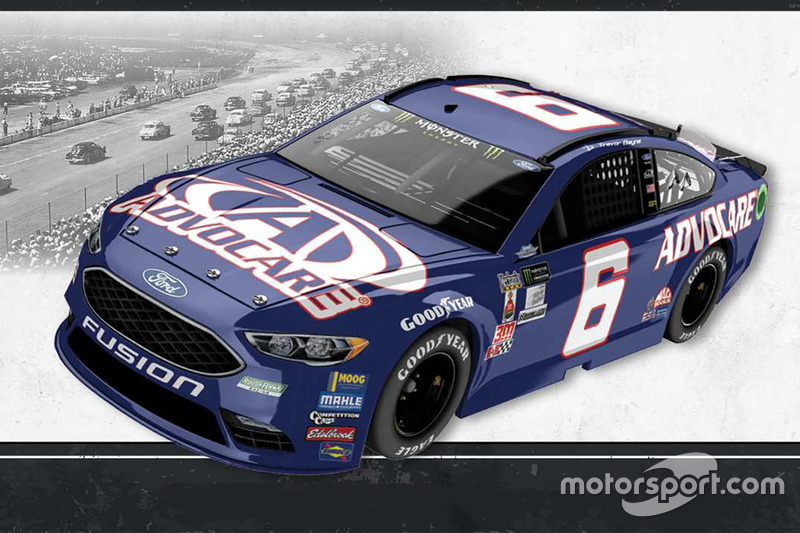 Throwback-Design: Trevor Bayne, Roush Fenway Racing Ford