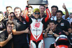 Il vincitore della gara Takaaki Nakagami, Idemitsu Honda Team Asia