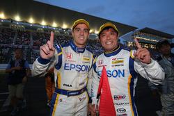 優勝した#64 Epson Modulo NSX-GTのベルトラン・バゲット、松浦孝亮