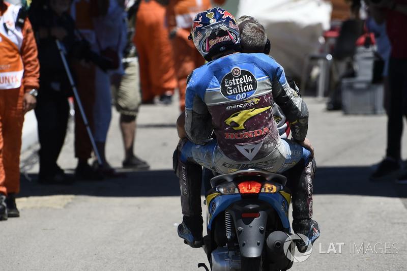 Jack Miller, Estrella Galicia 0,0 Marc VDS, after crash