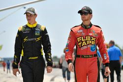 Joey Gase, Jimmy Means Racing Chevrolet, Harrison Rhodes, JD Motorsports Chevrolet