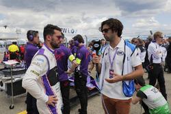 Jose Maria Lopez, DS Virgin Racing, parla con Fox Sports in griglia