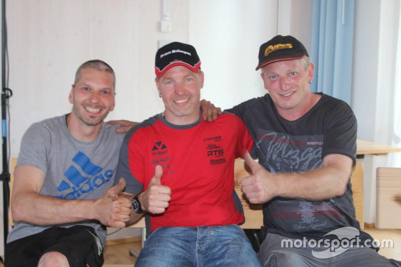 Eric Berguerand, Marcel Steiner, Simon Hugentobler, podium
