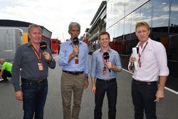 Martin Brundle, Sky TV, Damon Hill, Sky TV, Anthony Davidson, Sky TV and Simon Lazenby, Sky TV
