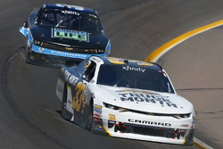Brandon Jones, Richard Childress Racing Chevrolet and Joey Gase, Jimmy Means Racing Chevrolet