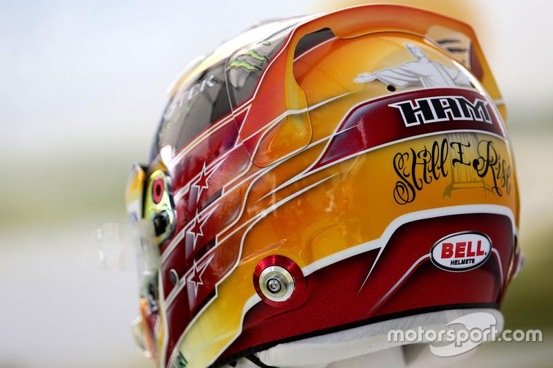 Der neue Helm von Lewis Hamilton