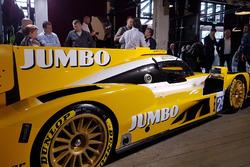 De Dallara LMP2 van Frits van Eerd, Jan Lammers en Rubens Barrichello, Racing Team Nederland