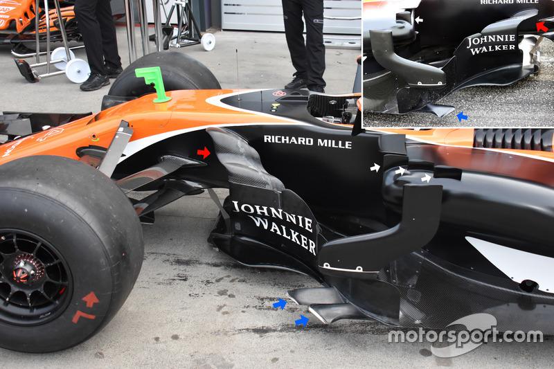 McLaren MCL32, bargeboard