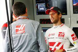 Romain Grosjean, Haas F1 Team, mit Günther Steiner, Haas-Teamchef