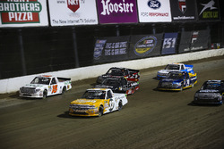 Kaz Grala, GMS Racing Chevrolet, Ryan Truex, Hattori Racing Enterprises Toyota, y Ben Rhodes, ThorSp