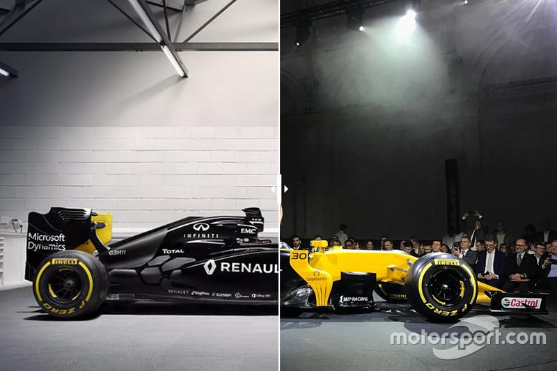 Vergleich: Renault RS16 von 2016 und Renault RS17 von 2017