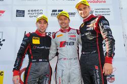 Nico Müller, Marcel Fässler, Robin Frijns, Audi R8 LMS, Audi Sport Team WRT, podium