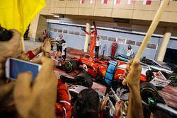 Le vainqueur Sebastian Vettel, Ferrari