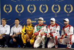 All FIA WTCC Worldchampions, Roberto Ravaglia, Andy Priaulx, Gabriele Tarquini, LADA Sport Rosneft,