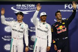 Polesitter: Lewis Hamilton, Mercedes AMG F1, second place Nico Rosberg, Mercedes AMG F1, third place