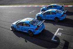 Nicky Catsburg, Thed Björk, Nestor Girolami, Polestar Cyan Racing, Volvo S60 Polestar durante la cal