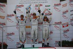 Podio Gara 1: il vincitore Giacomo Altoè, Seat Motor Sport Italia; il secondo classificato Matteo Z