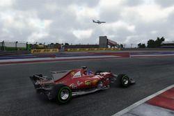 El Ferrari SF70H en Austin