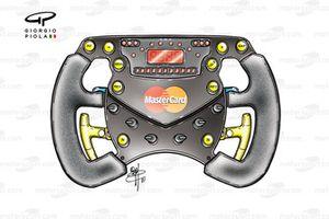 Jordan EJ11 steering wheel