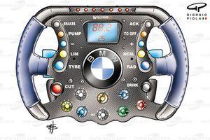 Williams FW26 2004 steering wheel