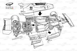 Vue explosée de la Ferrari 312T2