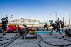 Racing Engineering practice pit stops