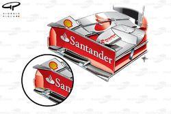 Comparaison de plaques d'extrémité de l'aileron avant de la Ferrari F138, USA