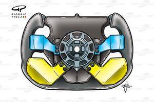 Prost AP03 2000 Heidfeld steering wheel