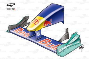 Sauber C19 2000 front wing and nose