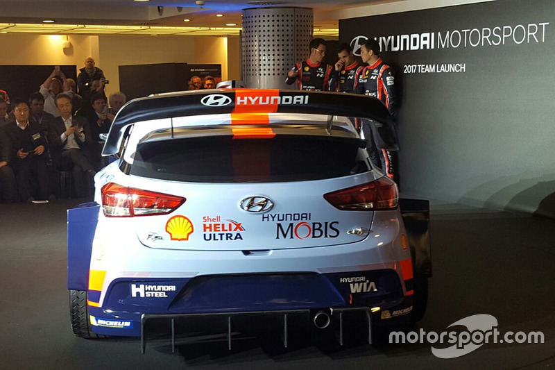 Hayden Paddon, Daniel Sordo, Thierry Neuville, Hyundai Motorsport, dévoilent la Hyundai i20 Coupe WRC 2017