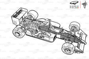 Подробная схема McLaren MP4-4 1988 года