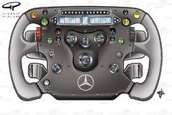 McLaren MP4-24 steering wheel