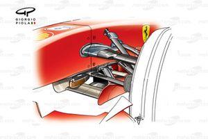 Ferrari F2007 (658) 2007, dettaglio della sospensione anteriore