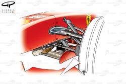 Suspension avant de la Ferrari F2007