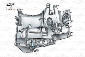 Minardi PS01 2001 gearbox casing underside view