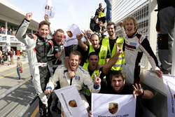 The team of #911 Herberth Motorsport Porsche 991 GT3 R: Daniel Allemann, Ralf Bohn, Robert Renauer,