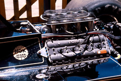 Der Ford Cosworth DFV Motor im Lotus