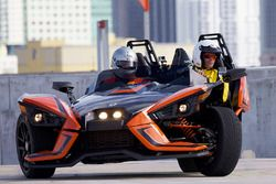 Motorsport.com Editor in Chief Charles Bradley drives a Polaris Slingshot